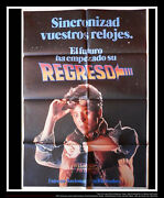 Back To The Futur Teaser 27x40 Spanish One Sheet Movie Poster Original 1985