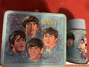 Original 1965 Beatles Lunch Box Complete With Thermos Rare Great Shape - Read