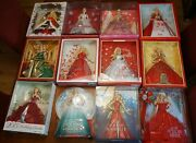 Holiday Barbie Collection From 1988-2018 - Plus 6 Bonus Dolls