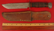 Vintage Remington Pal Rh - 36 Fighting Combat Knife Wwii With Sheath