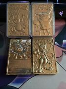 23k Gold Plated Pokemon Cards Set Of 4 Good Condition 1999 Burger King Lot