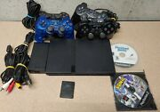Ps2 Slim Sony Play Station 2 Slim Console 4 Controllers, 2 Memory Cards And More