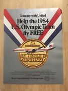 2 Vintage 1984 Olympic Sponsor United Airlines Posters