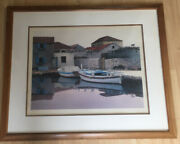 Zvonimir Mihanovic Limited Series Lithograph Andldquofrom Village Betina 1989andrdquo Signed