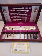 1847 Rogers Bros Heritage Silverplate Flatware Service For 8+ With Box 48 Pieces