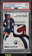 2020 Immaculate Collection Brilliance Gold Kylian Mbappe Patch /10 Psa 9 Mint