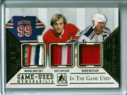 2015-16 Itg Used Patches Trios Gold Wayne Gretzky/guy Lafleur/mark Messier 3/3