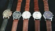 Set Of 5 New Menand039s Watches. Ships From U.s. 10 Free Spare Batteries Lot 876012xx