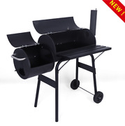 Outdoor Charcoal Grill Barbecue Grill With Offset Smoker Camping Cooking Bbq Us-
