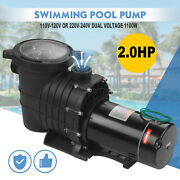 2.0hp For Hayward Swimming Pool Pump Motor In/above Ground W/ Strainer Filter