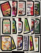 1974 Topps Wacky Packs Series 7 Complete Set 33/33 Ex- Packages Grime Big Muc