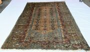 Antique Hand Knotted Wool Turkish Ghiordes Pile Rug Circa 1920and039s