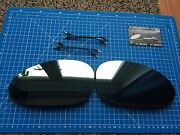 Bmw E46 M3 Convertible Coupe Pair Wing Mirror Glass Blue Heated And Leads Pre-05