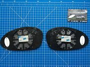 Bmw E46 M3 Coupe Convertible Pair Heated Wing Mirror Glass Blue No Leads 05 And 06