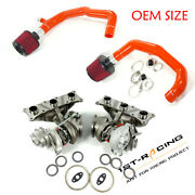Fit E90/e91/e92/e93 Bmw 335i And 335xi N54 Twin Turbos + Inlet + Air Fiter Red