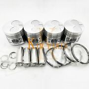 4 Sets Std Piston Clip Pin Andring For Shibaura N844 N844lt Engine