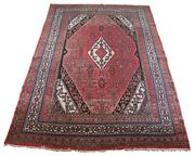 Semi Antique Hand Knotted Wool Medallion Area Rug Carpet Red 8.5and039 X 12and039