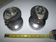 Used Pair Barient 17 Self Tailing St Chromed Winches Sailboat 2 Speed Lot1958