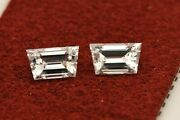 Loose Matched Pair Natural Diamonds 0.52ctw Trapezoid Steps F-g Vvs2 5.2x3.0mm