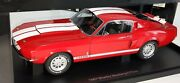 Ford Mustang Shelby Gt 500 1967 Red/white Stripes Autoart 72906 New In Box