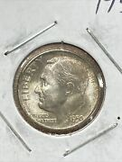 Uncirculated 1950-s San Francisco Mint Silver Roosevelt Dime