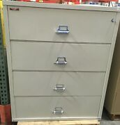 Fire King / Fireking 4 Drawer Lateral Fireproof File Cabinet Mcid 76882