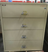 Fire King / Fireking 4 Drawer Lateral Fireproof File Cabinet Mcid 76889
