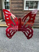 Metal Butterfly Garden Bench - Made In The Usa - Free Local Pickup - Many Colors