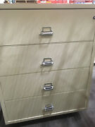 Fire King / Fireking 4 Drawer Lateral Fireproof File Cabinet Mcid 77170