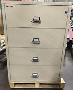 Fire King / Fireking 4 Drawer Lateral Legal Fireproof File Cabinet Mcid 77156