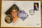 Coin Cover 1998 Diana Contains Zambia 1000 Kwacha Diana Coin Ref056