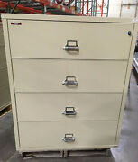 Fire King / Fireking 4 Drawer Lateral Fireproof File Cabinet Mcid 76886