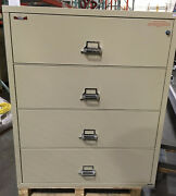 Fire King / Fireking 4 Drawer Lateral Fireproof File Cabinet Mcid 76890