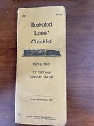 Illustrated Lionel Checklist 1929-1969 O Oo And Standard Gauge 1977