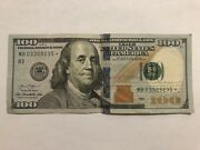 2013 Series 100 Dollar Bill Star Note Federal Reserve Note - Mb 03309235