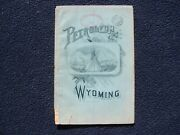 C. 1889 Bailey Petroleum In Wyoming Territory Newcastle Oil Wells And Springs Map