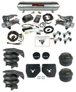 Complete Air Ride Suspension Kit W/480 Chrome And 27685 Air Lift 3p For 73-87 C10