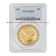 1900 20 Liberty Head Pcgs Ms64 Gold Double Eagle Choice Graded Us Coin