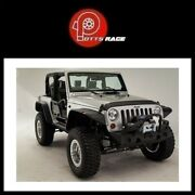 Fab Fours Jk07-b1854-1 For 2007-2017 Jeep Hardcore Stubby Winch Front Bumper