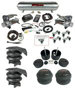 Complete Air Ride Suspension Kit W/480 Chrome And 27685 Air Lift 3p Fits 88-98 C15