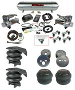 Airlift 27685 3p Complete Air Ride Suspension Kit 480 Chrome Fit 88-98 C15 Truck
