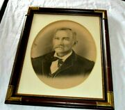 Atq Americana Henry Ford Brother Family Graphite Original Portrait Painting