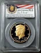2014 W Gold Kennedy Signed High Relief Pcgs Proof 69 Dcam 50th Anniv 1st Strike