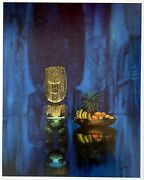 Tiki Print By August Holland. Nice 16 X 20 Reproduction Of 1960 Vintage Art