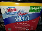 Hth Pool Super Shock Treatment 15- 1lb Packs And 15 -6 Way Test Strips New