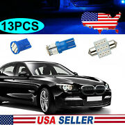 13x Car Interior Package Map Dome License Plate Mixed Led Light Accessories Kits
