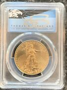 2020 50 1oz Gold Eagle Pcgs Ms70 First Day Of Issue Thomas Cleveland