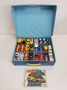 Vintage Lesney Matchbox Lot Of 46 And Carrying Case