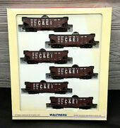 Walthers Ho Scale Ps-3 Rib Side Twin Hopper 6 Pack Chicago And Eastern Illinois