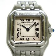 Auth Panthere Sm W25033p5 Silver 218161cd Womens Wrist Watch